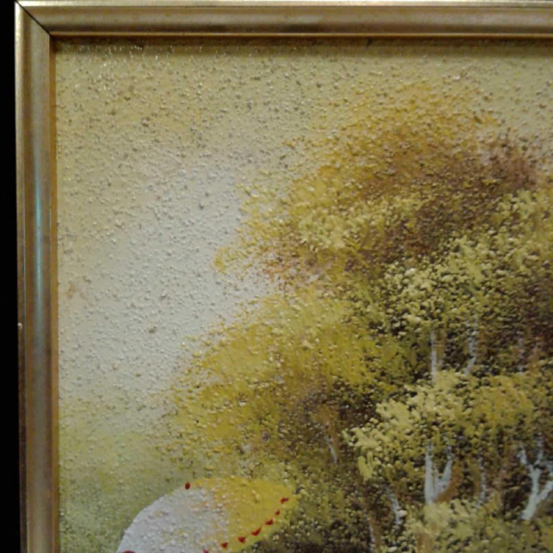Sandy Grit Textured Impasto Oil Painting - 3