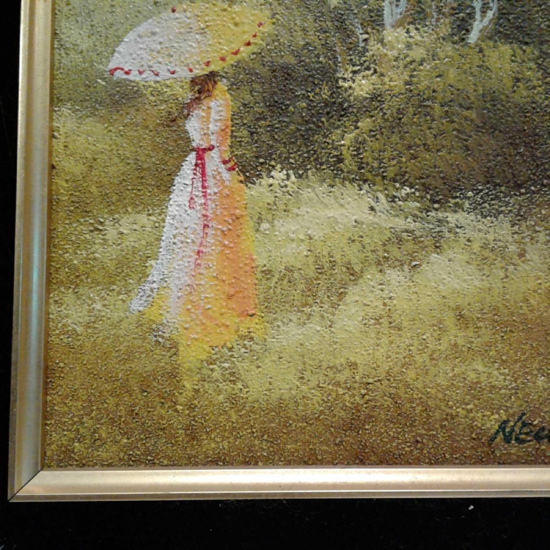 Sandy Grit Textured Impasto Oil Painting - 4