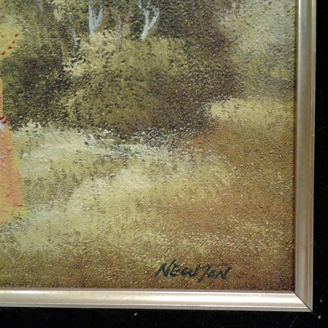 Sandy Grit Textured Impasto Oil Painting - 6