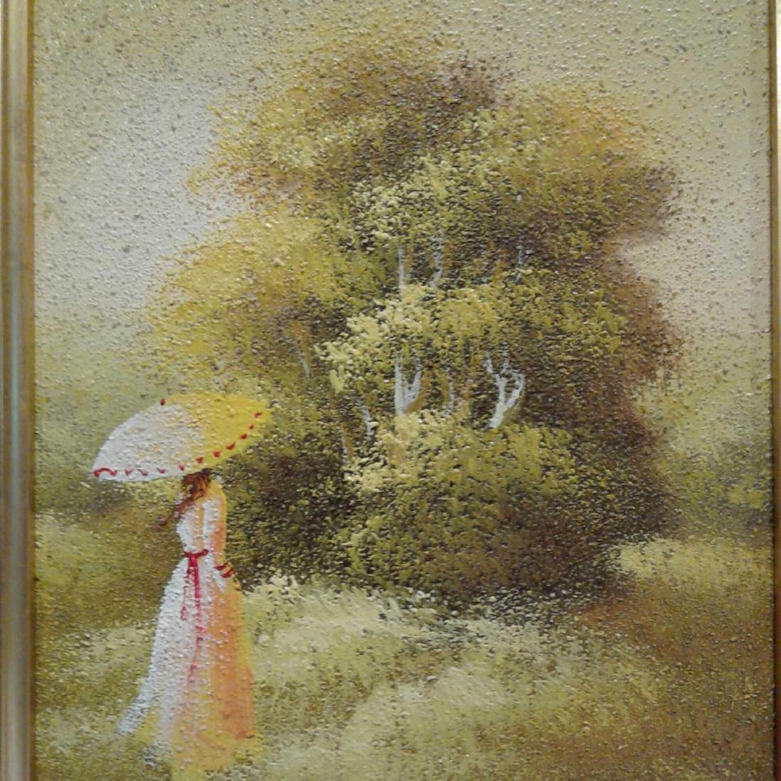 Sandy Grit Textured Impasto Oil Painting - 8