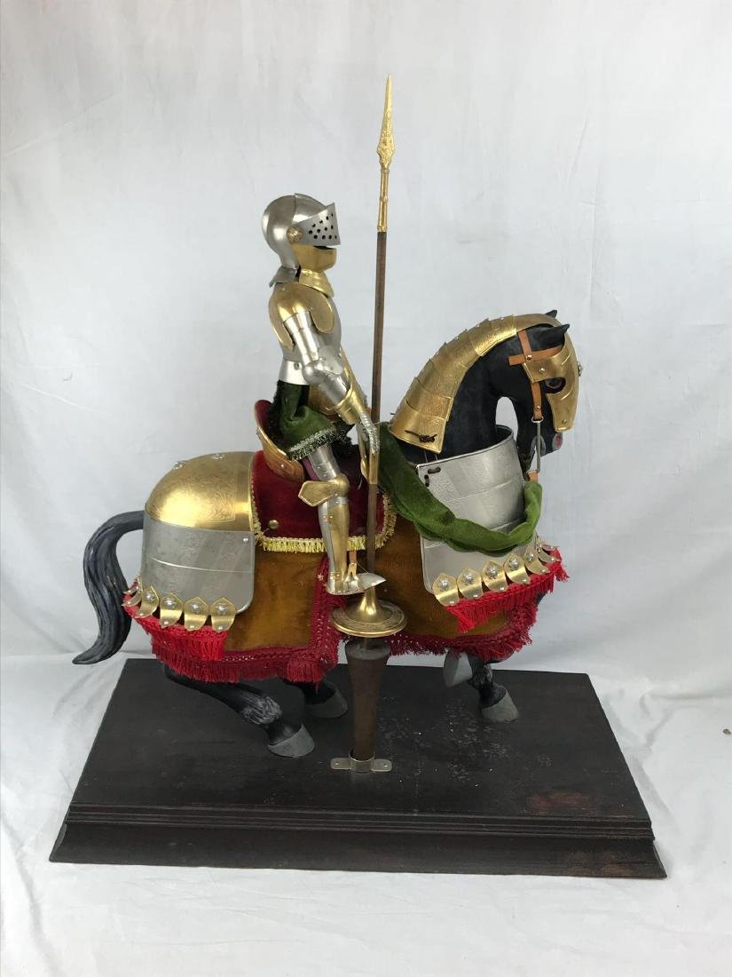 Mounted Knight in Armor, Miniature by Marto of Spain - 3