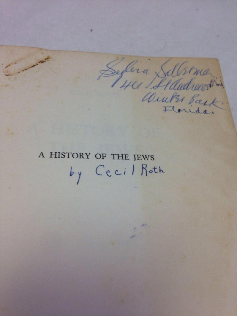 Book, A History of the Jews, by Cecil Roth, 1961 - 5