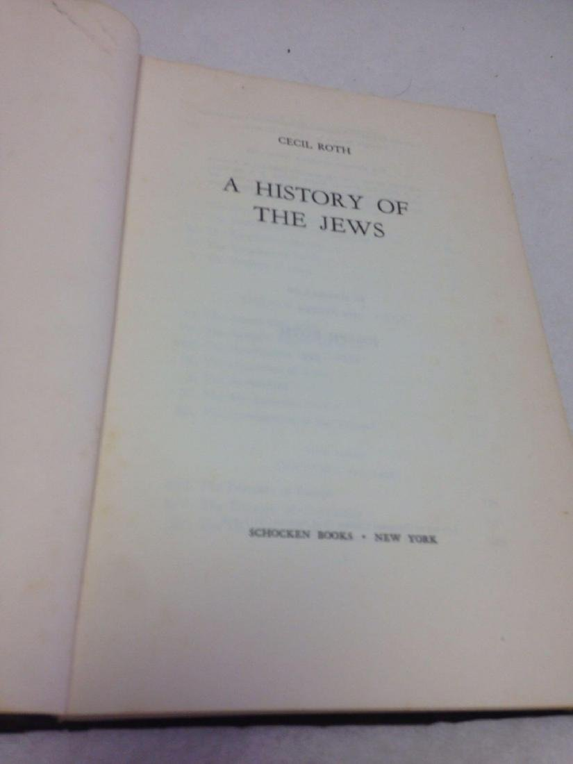 Book, A History of the Jews, by Cecil Roth, 1961 - 6