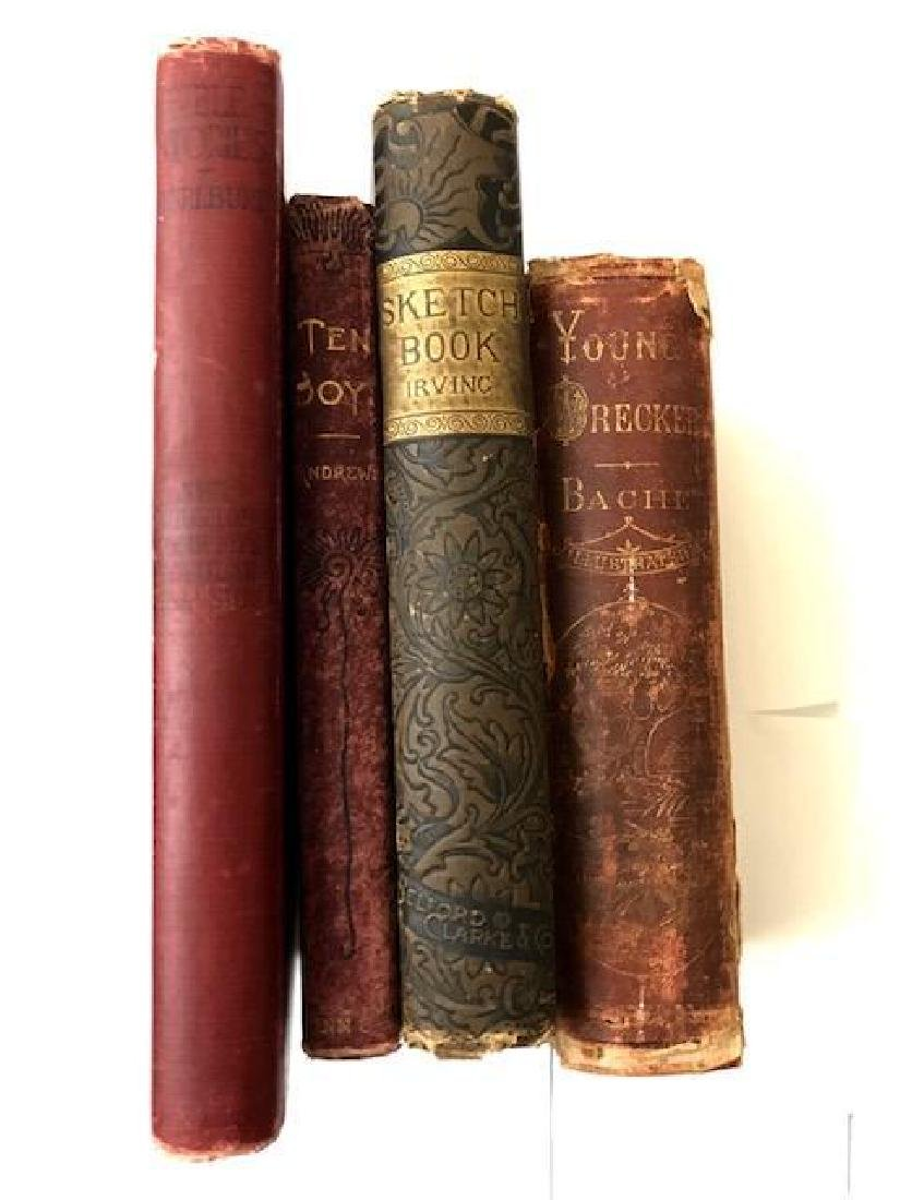 Four Antique Books, Two 19th Century, Two Early 20th