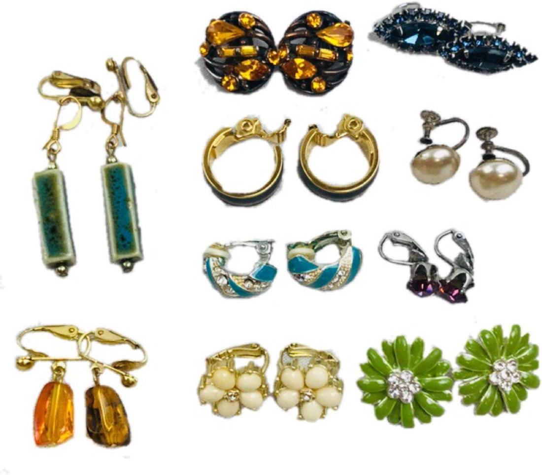 Vintage Assortment Of Earrings
