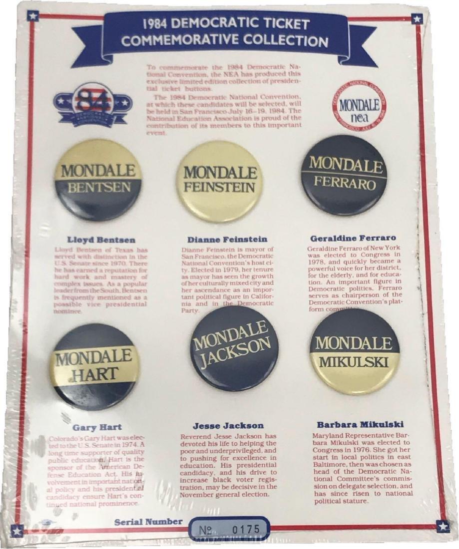 Rare 1984 Democratic Ticket Commemorative Collection