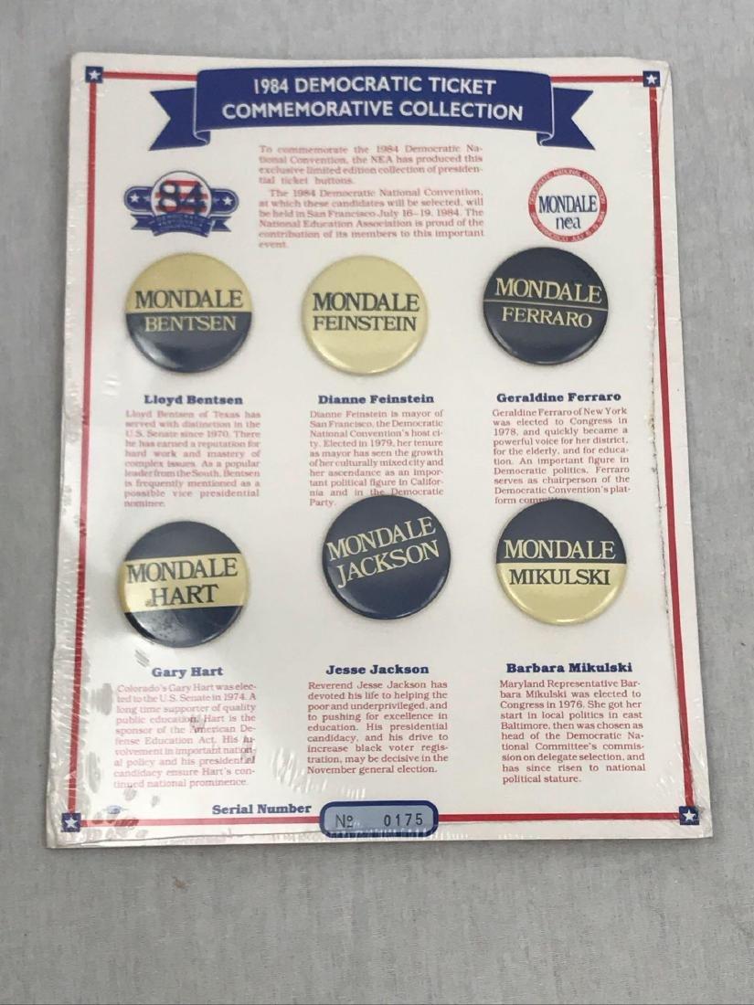 Rare 1984 Democratic Ticket Commemorative Collection - 2