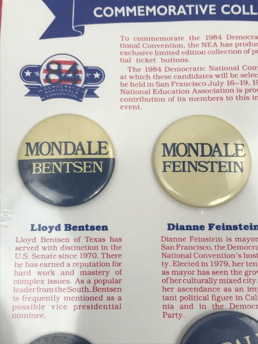 Rare 1984 Democratic Ticket Commemorative Collection - 3
