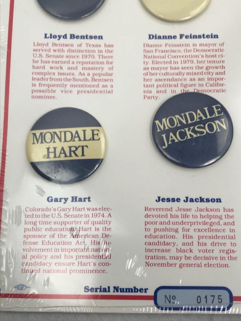 Rare 1984 Democratic Ticket Commemorative Collection - 4
