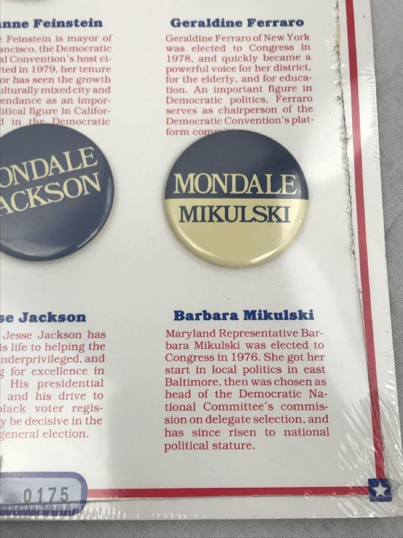 Rare 1984 Democratic Ticket Commemorative Collection - 5