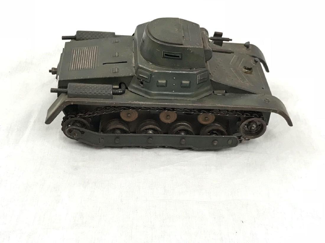 Vintage Pressed Steel Clockwork Tank - 2