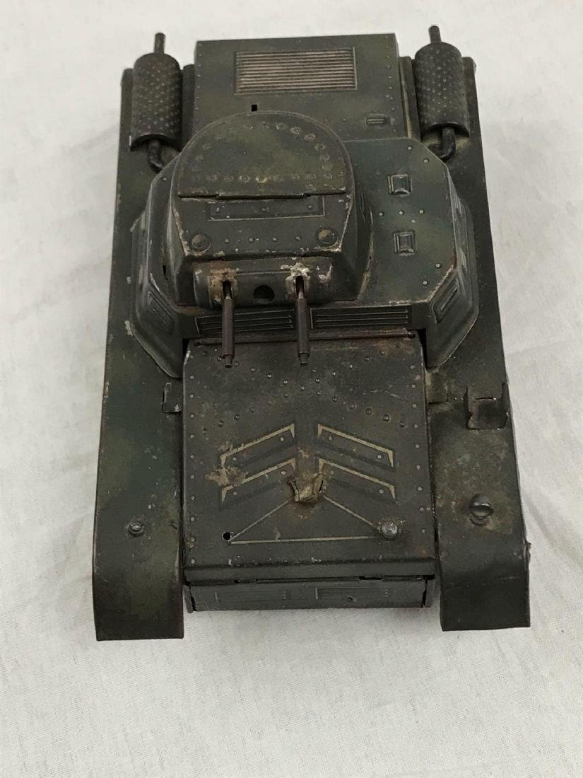 Vintage Pressed Steel Clockwork Tank - 3