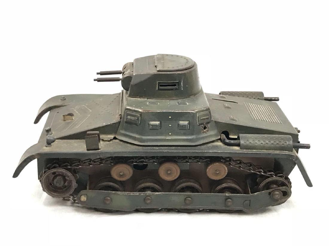 Vintage Pressed Steel Clockwork Tank - 4