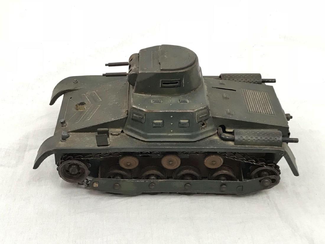 Vintage Pressed Steel Clockwork Tank - 5