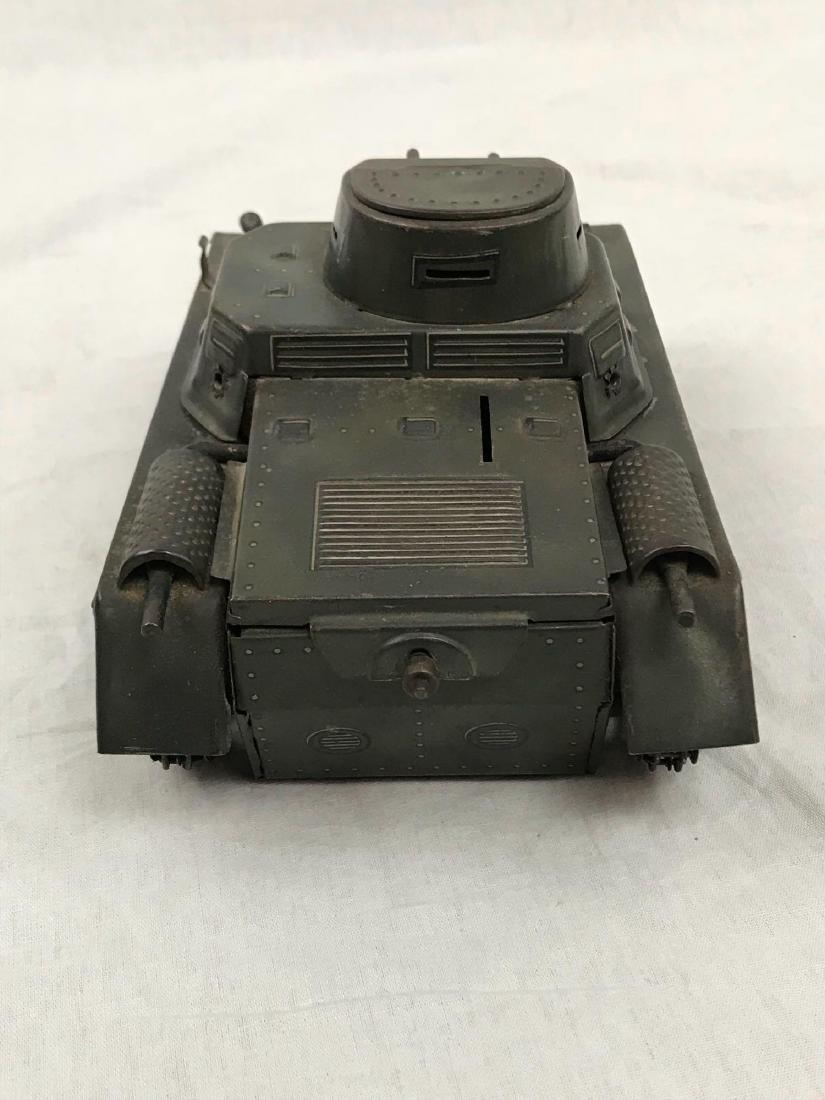 Vintage Pressed Steel Clockwork Tank - 7