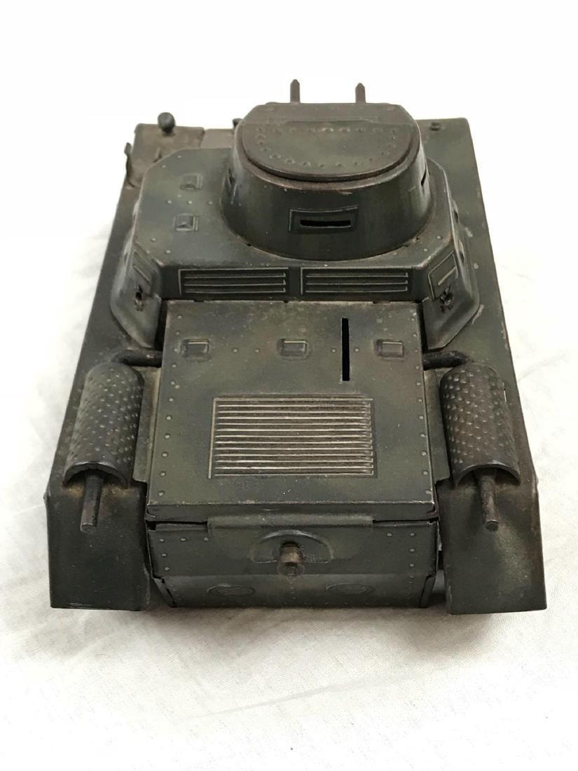 Vintage Pressed Steel Clockwork Tank - 8