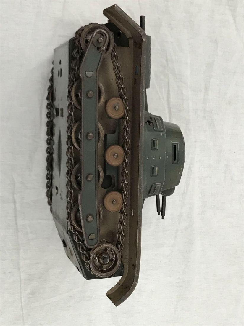 Vintage Pressed Steel Clockwork Tank - 9