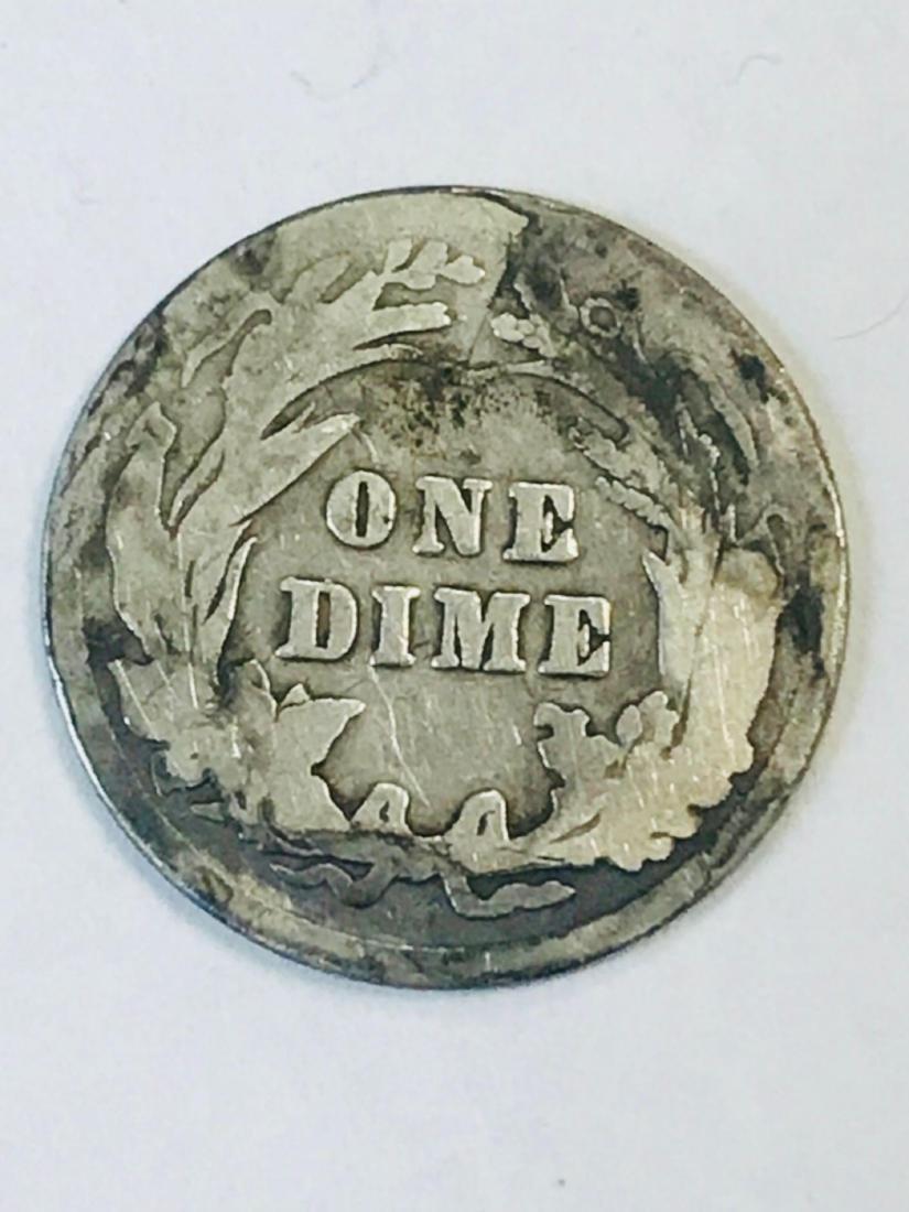 1916 Silver Barber Dime - 4