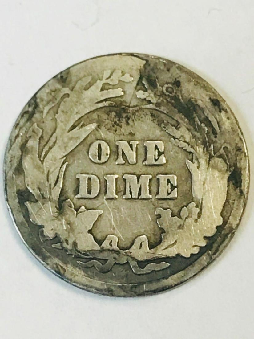 1916 Silver Barber Dime - 5
