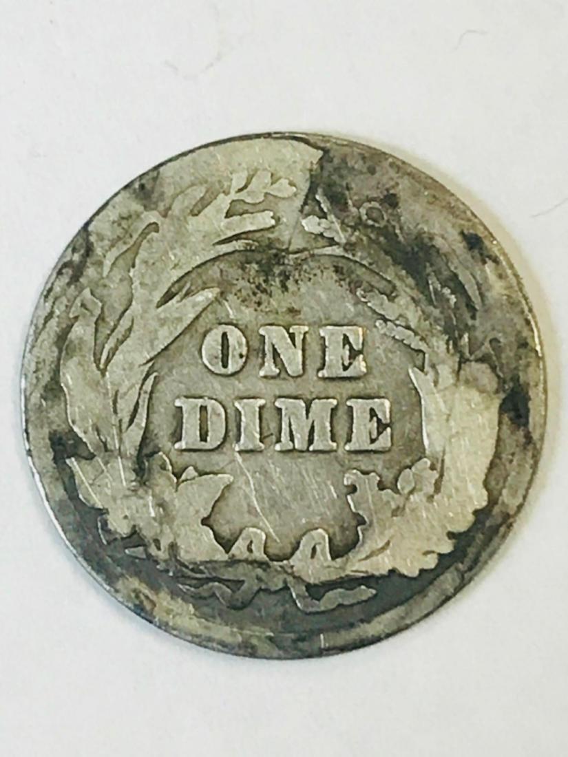 1916 Silver Barber Dime - 6