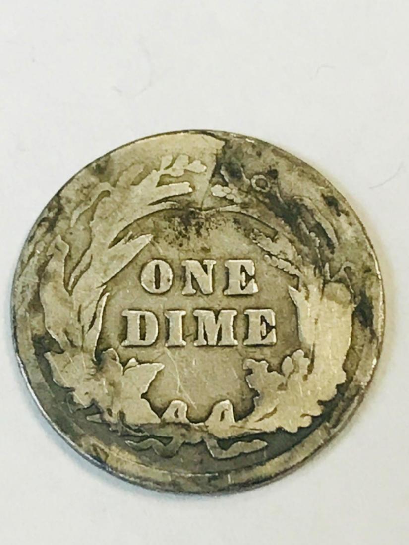 1916 Silver Barber Dime - 7