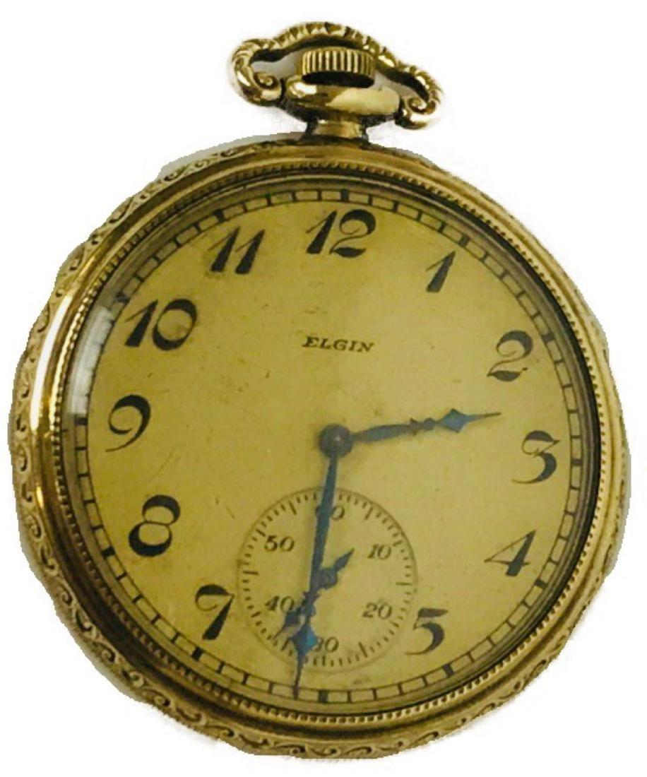 Antique Elgin Open Face Pocket Watch, 1922