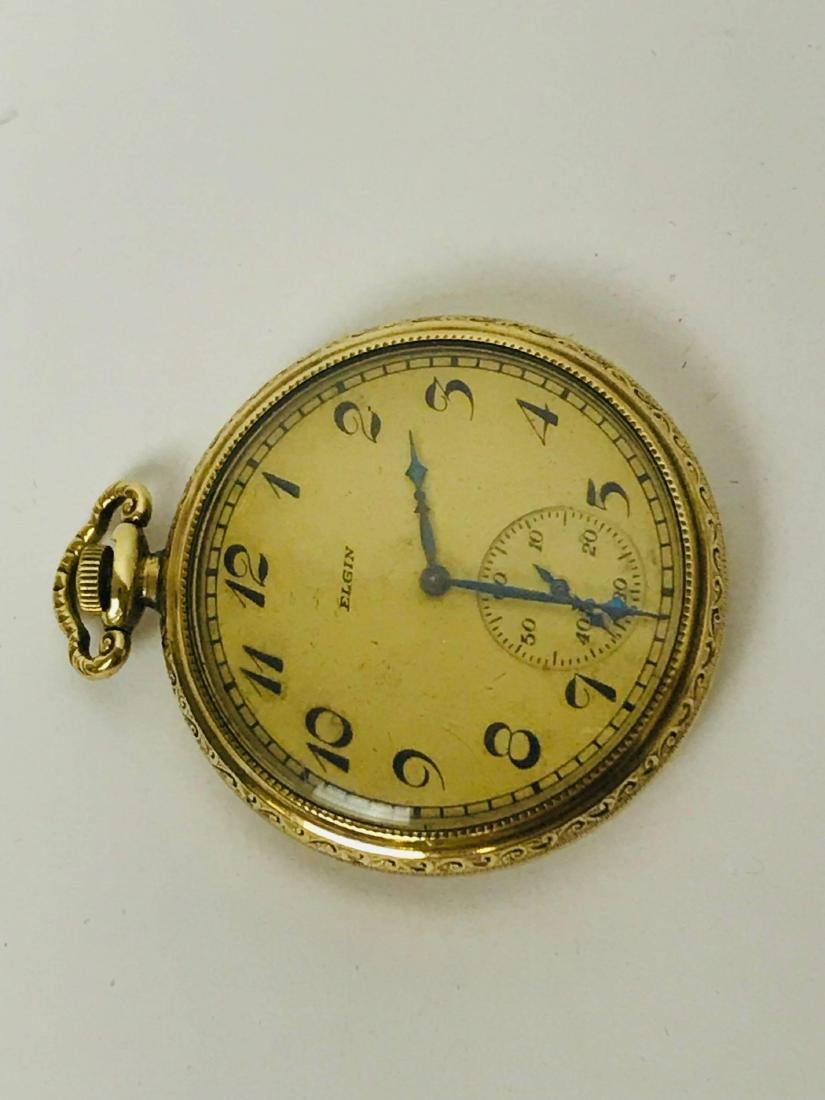 Antique Elgin Open Face Pocket Watch, 1922 - 3