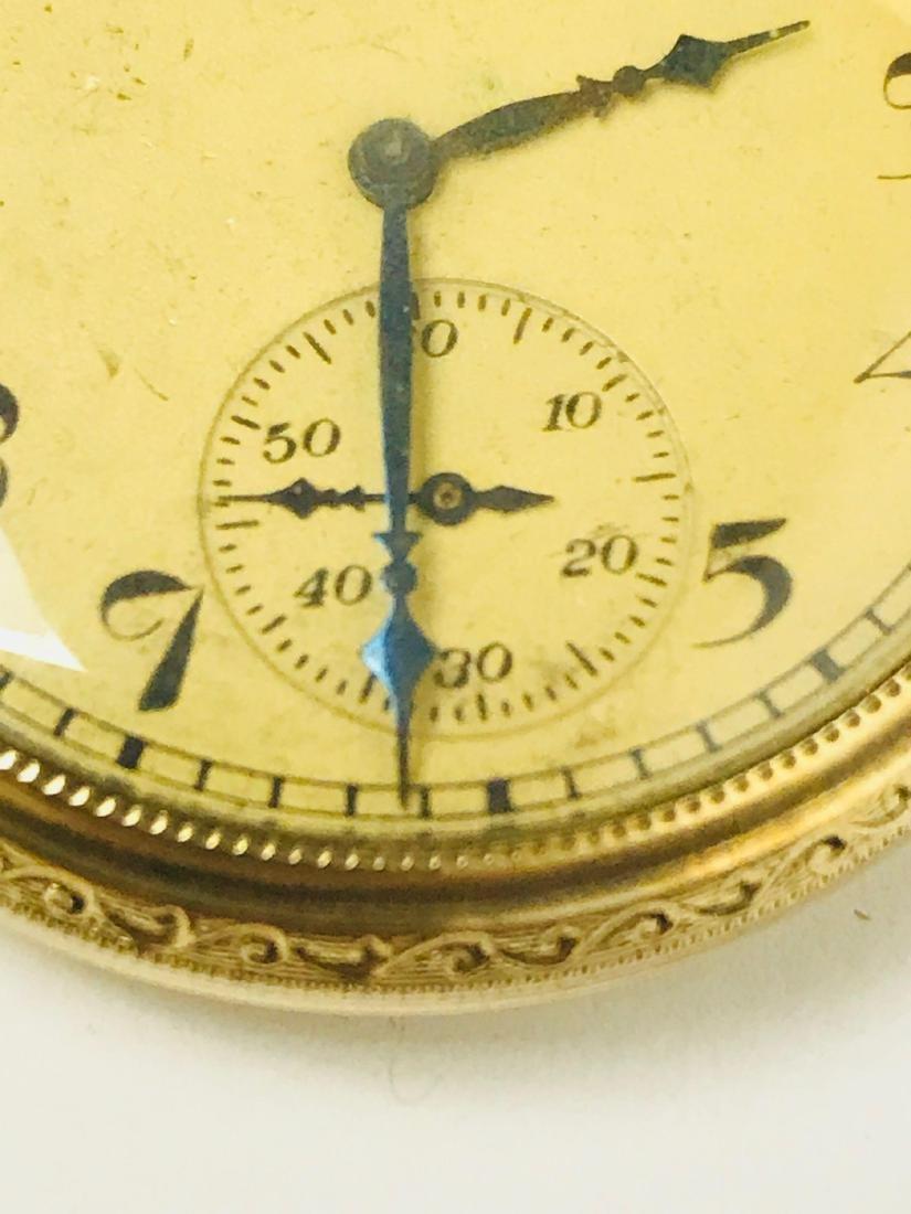Antique Elgin Open Face Pocket Watch, 1922 - 4