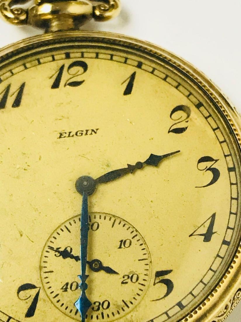 Antique Elgin Open Face Pocket Watch, 1922 - 5