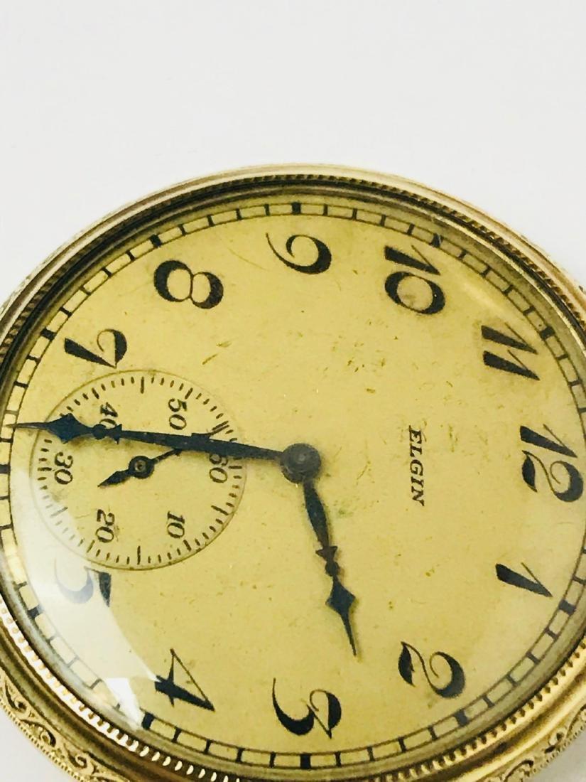 Antique Elgin Open Face Pocket Watch, 1922 - 6