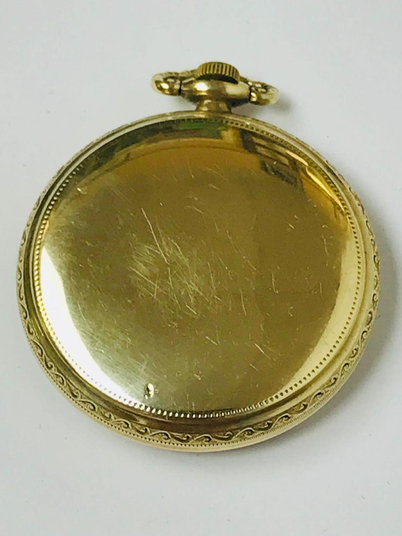Antique Elgin Open Face Pocket Watch, 1922 - 8