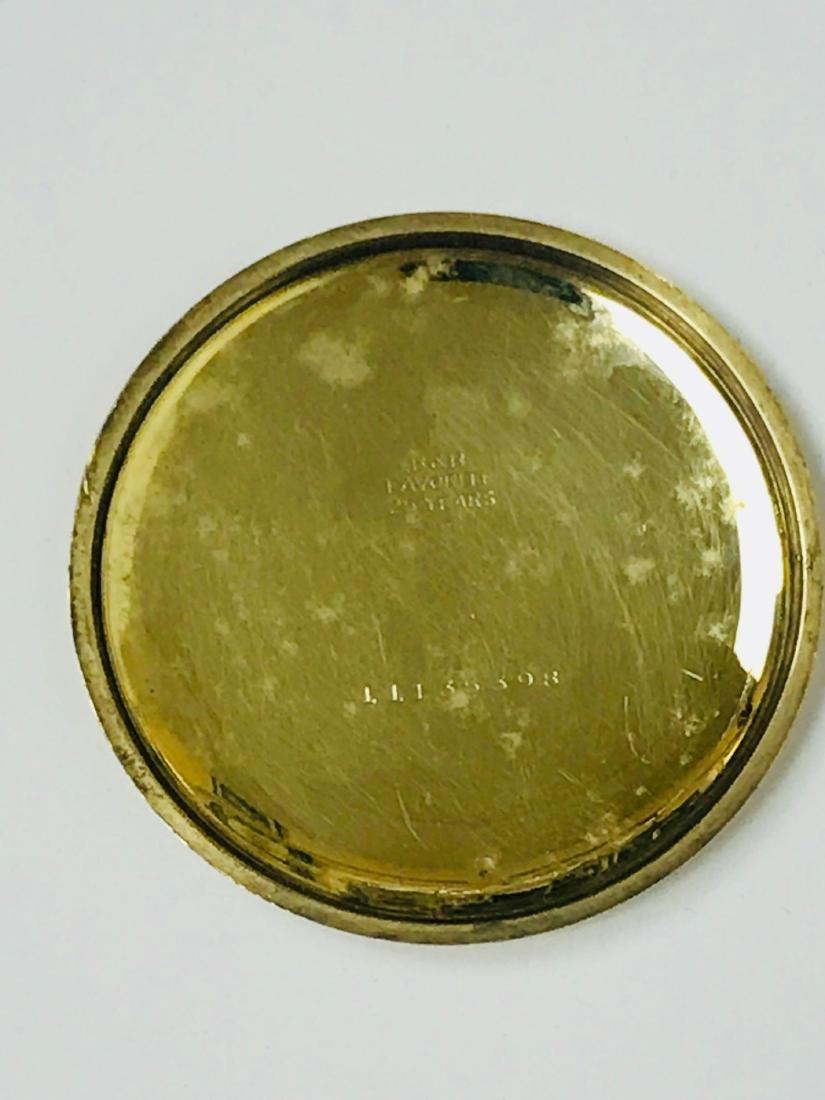 Antique Elgin Open Face Pocket Watch, 1922 - 9