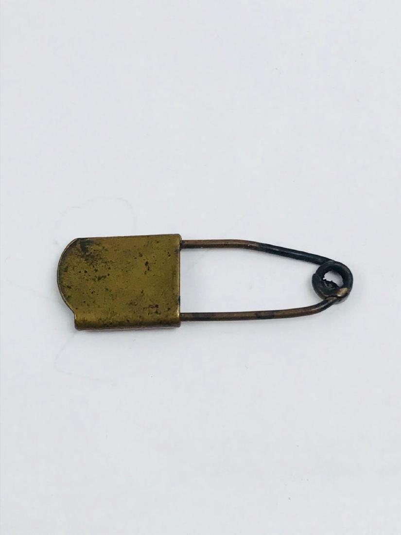 Vintage Brass Safety Pin - 2