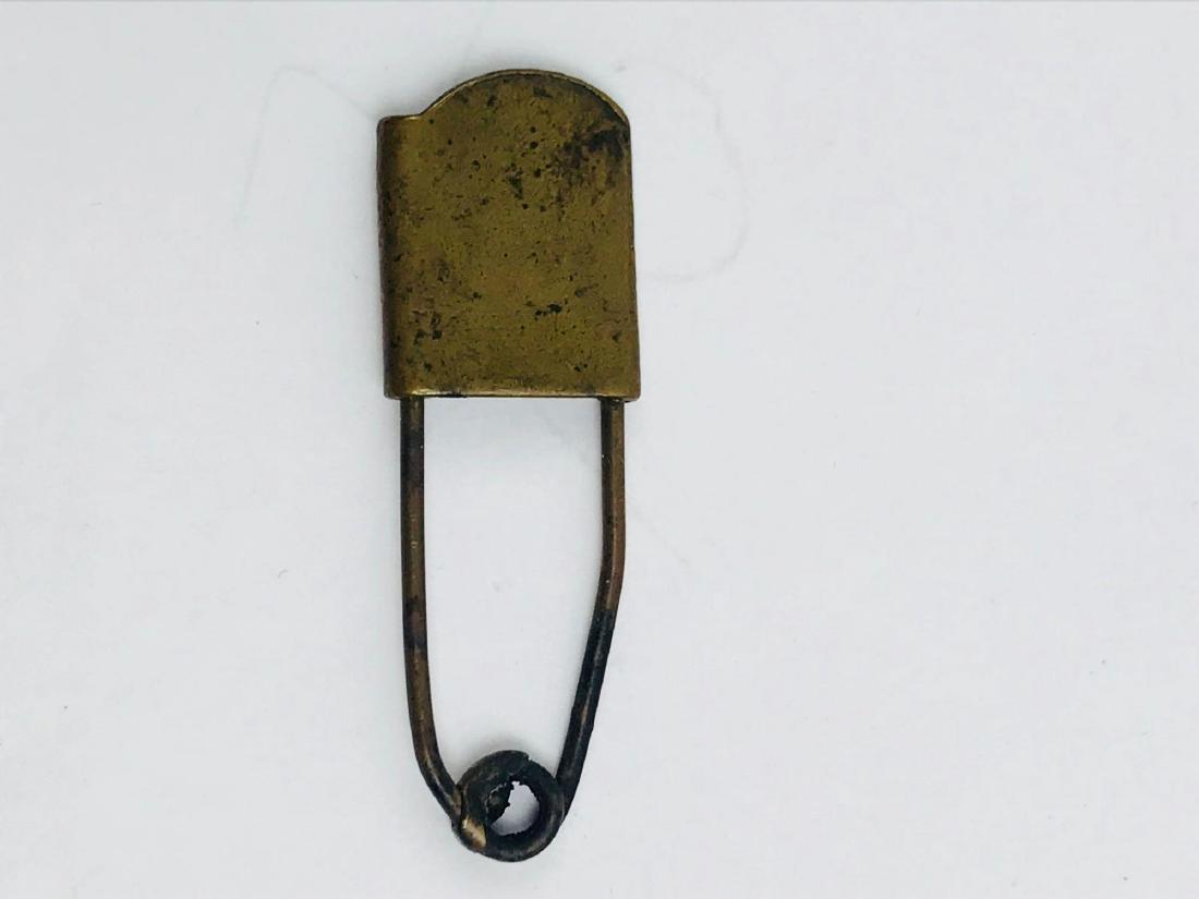 Vintage Brass Safety Pin - 3
