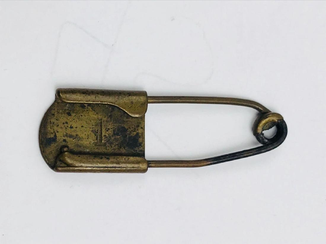 Vintage Brass Safety Pin - 4