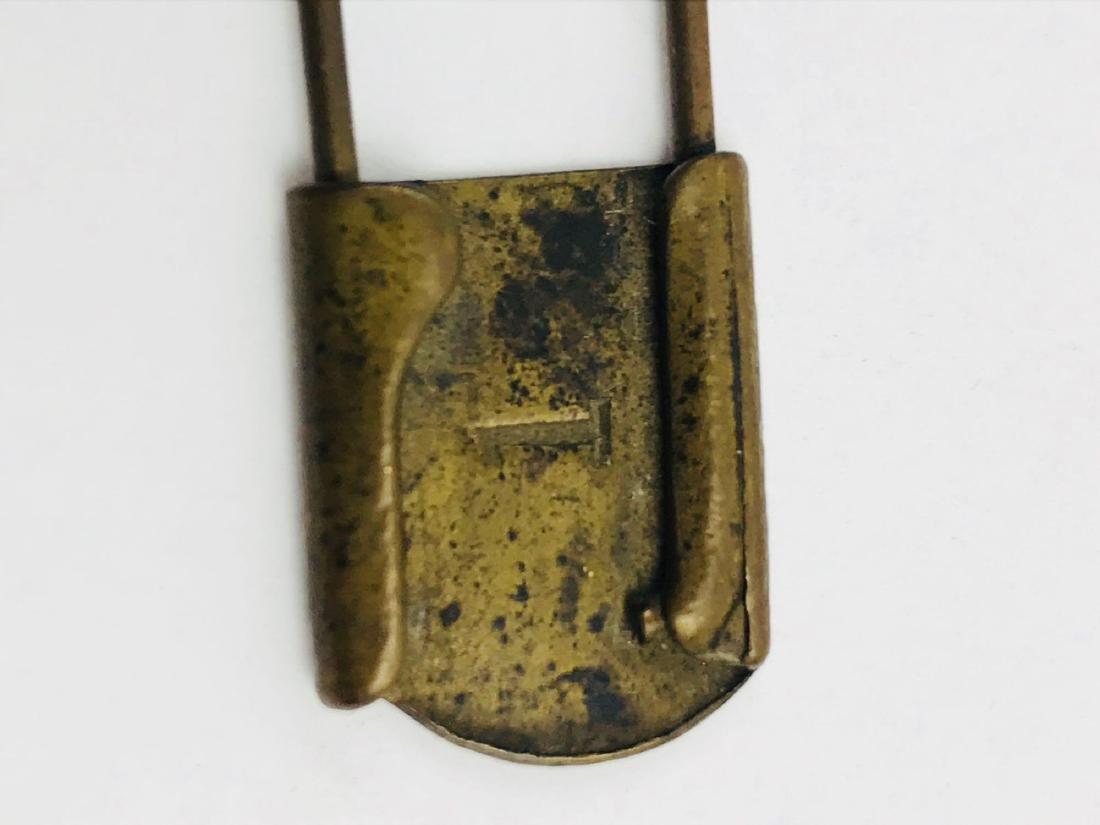 Vintage Brass Safety Pin - 5