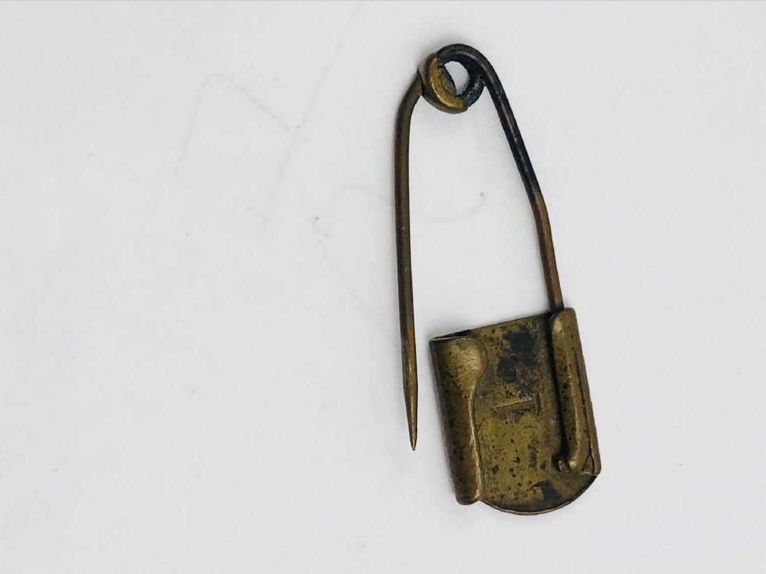 Vintage Brass Safety Pin - 6