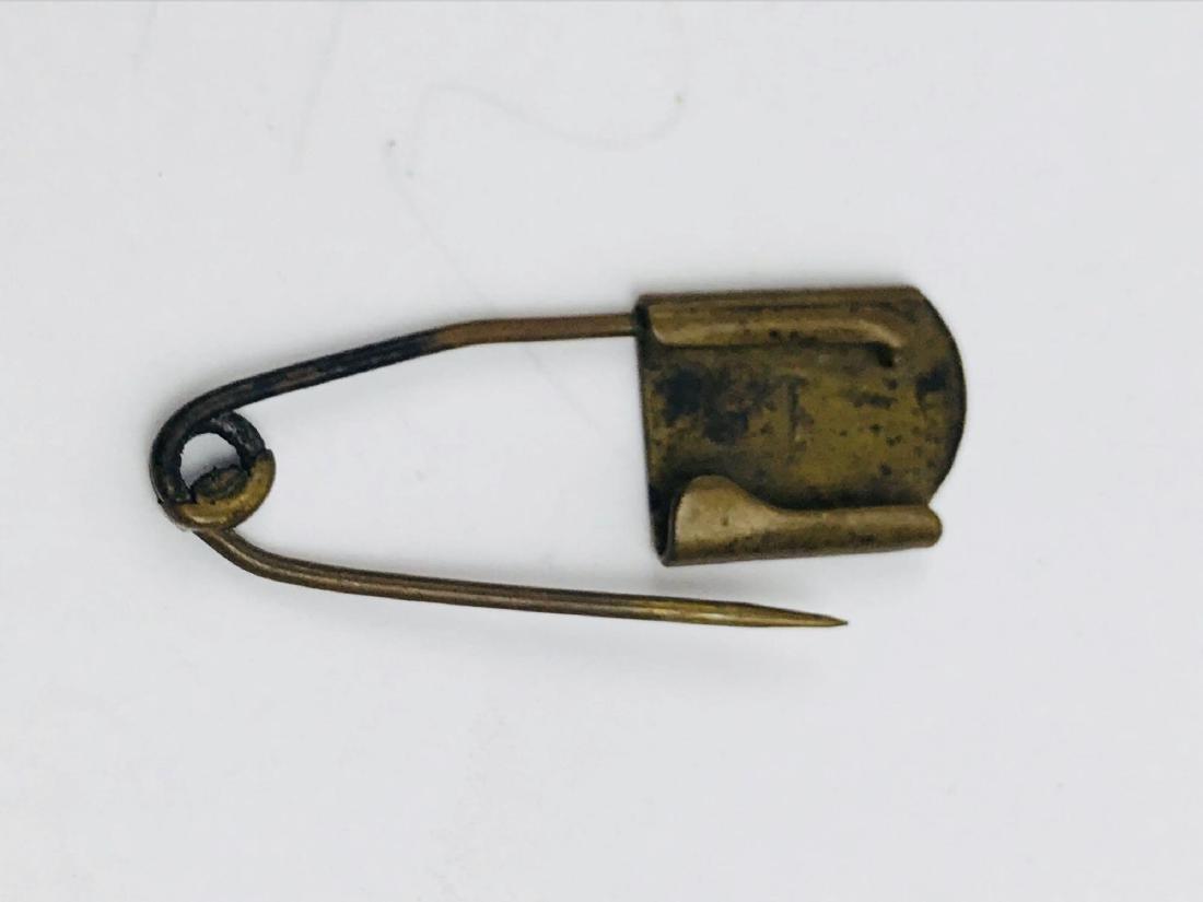 Vintage Brass Safety Pin - 7