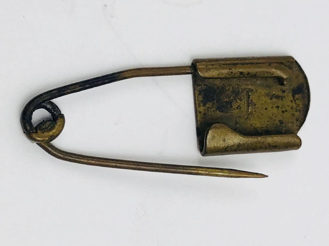 Vintage Brass Safety Pin - 8