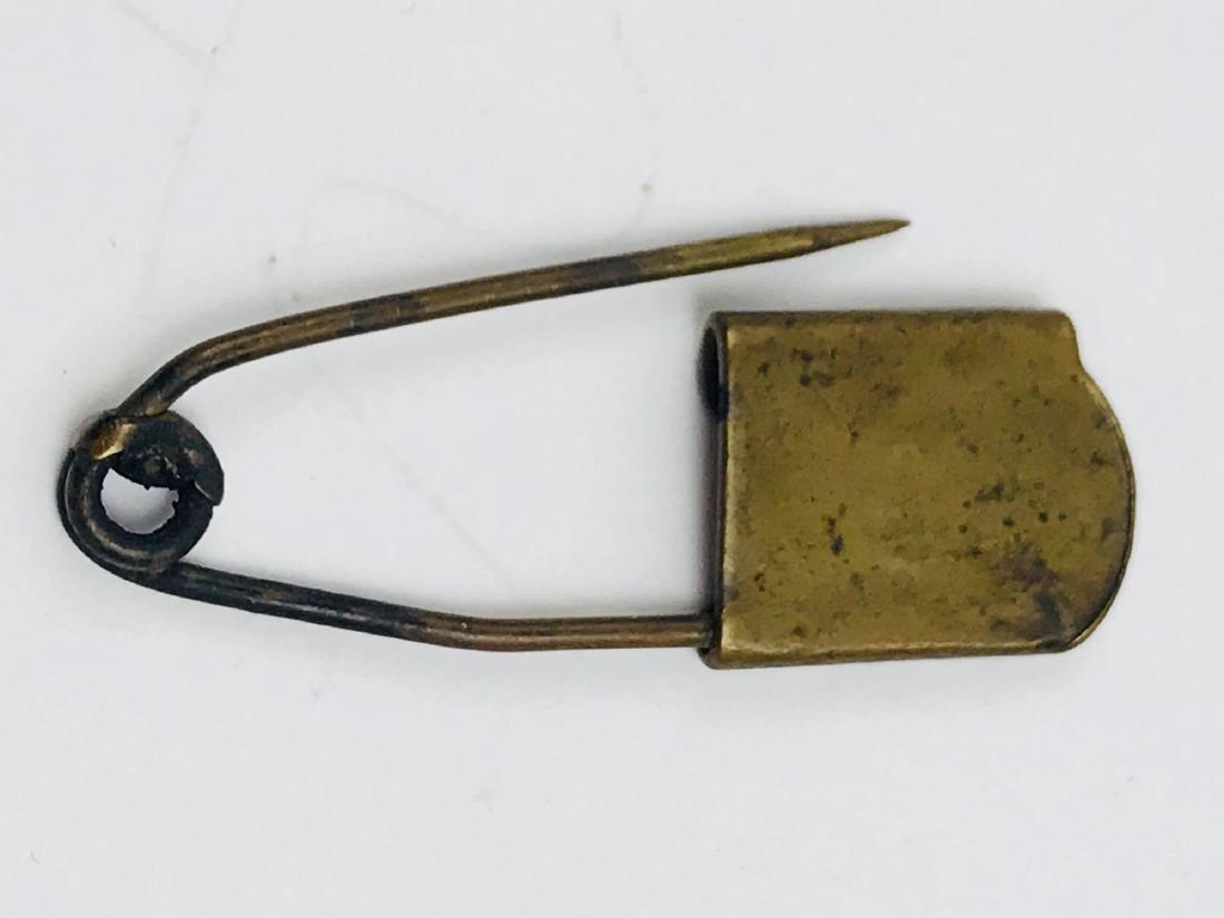 Vintage Brass Safety Pin - 9