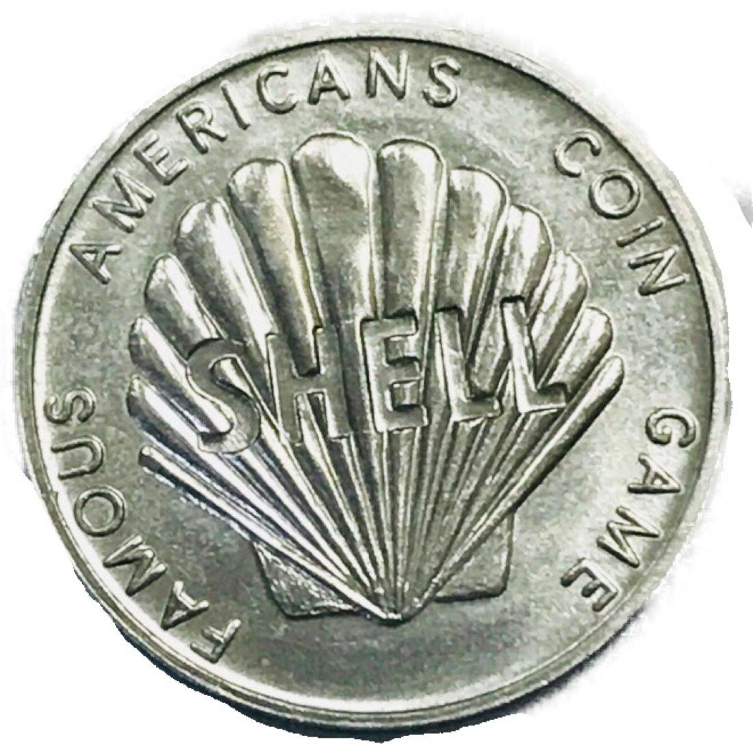 Shell Oil 1968 Famous Americans Coin Wright Brothers
