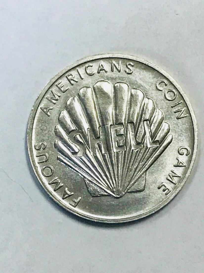 Shell Oil 1968 Famous Americans Coin Wright Brothers - 2