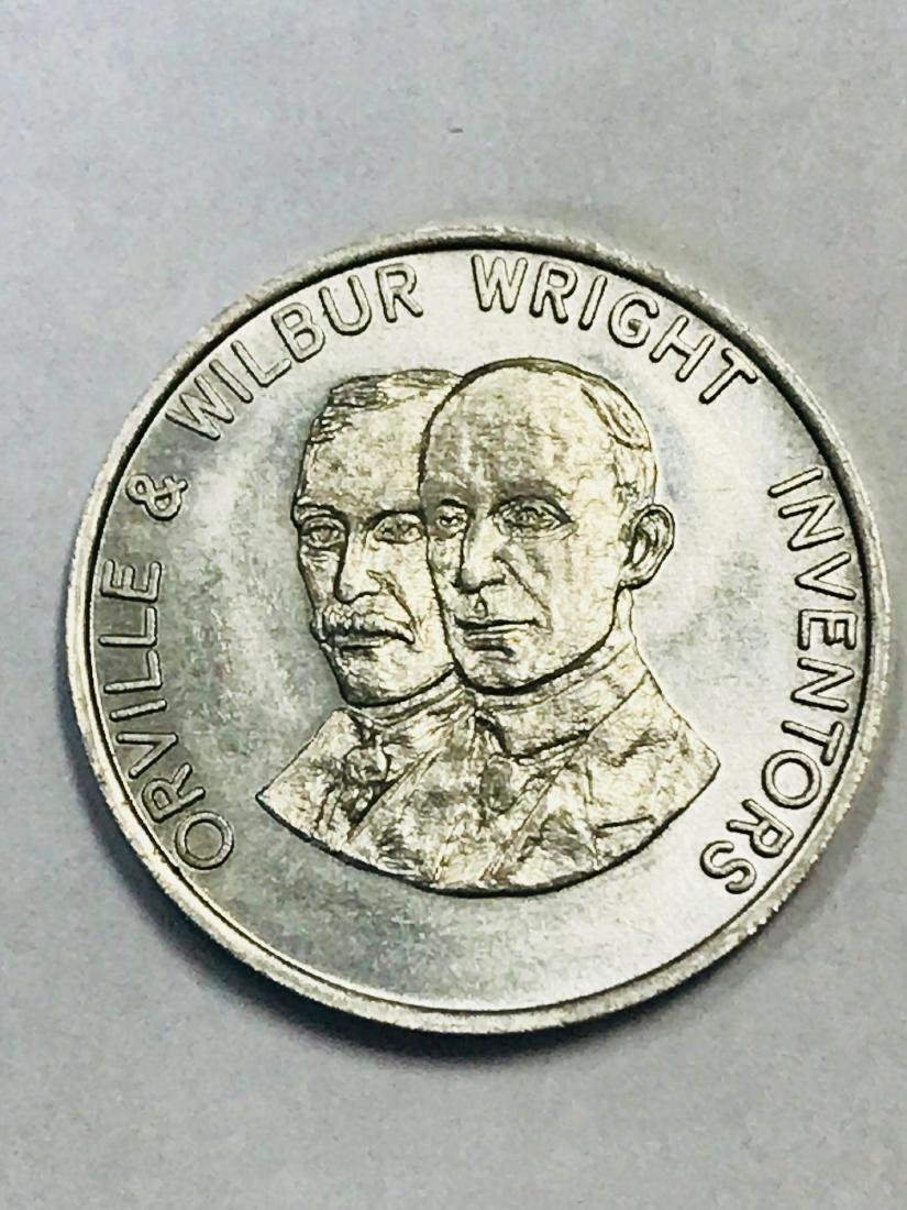 Shell Oil 1968 Famous Americans Coin Wright Brothers - 4