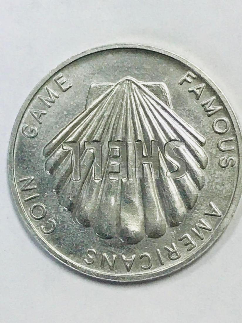 Shell Oil 1968 Famous Americans Coin Wright Brothers - 7
