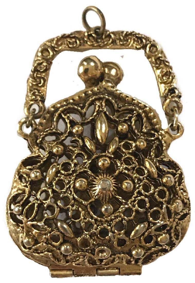 Victorian Revival Coin Purse Pendant
