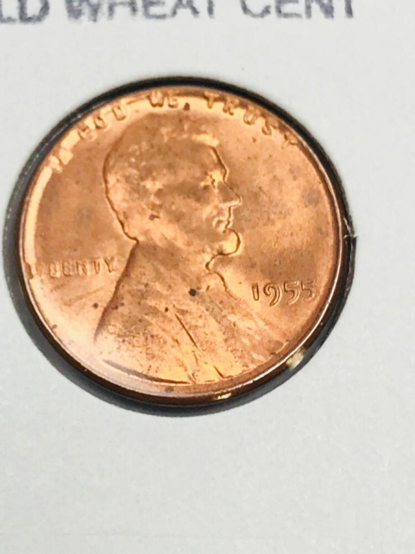 1955-P Brilliant Uncirculated Wheat Penny - 2