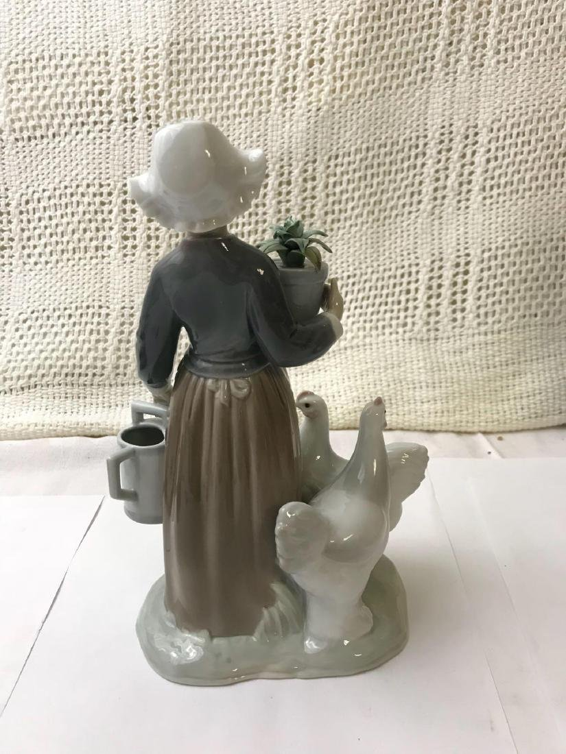 """LLADRO Porcelain """"Dutch Girl With Hens"""" - 3"""