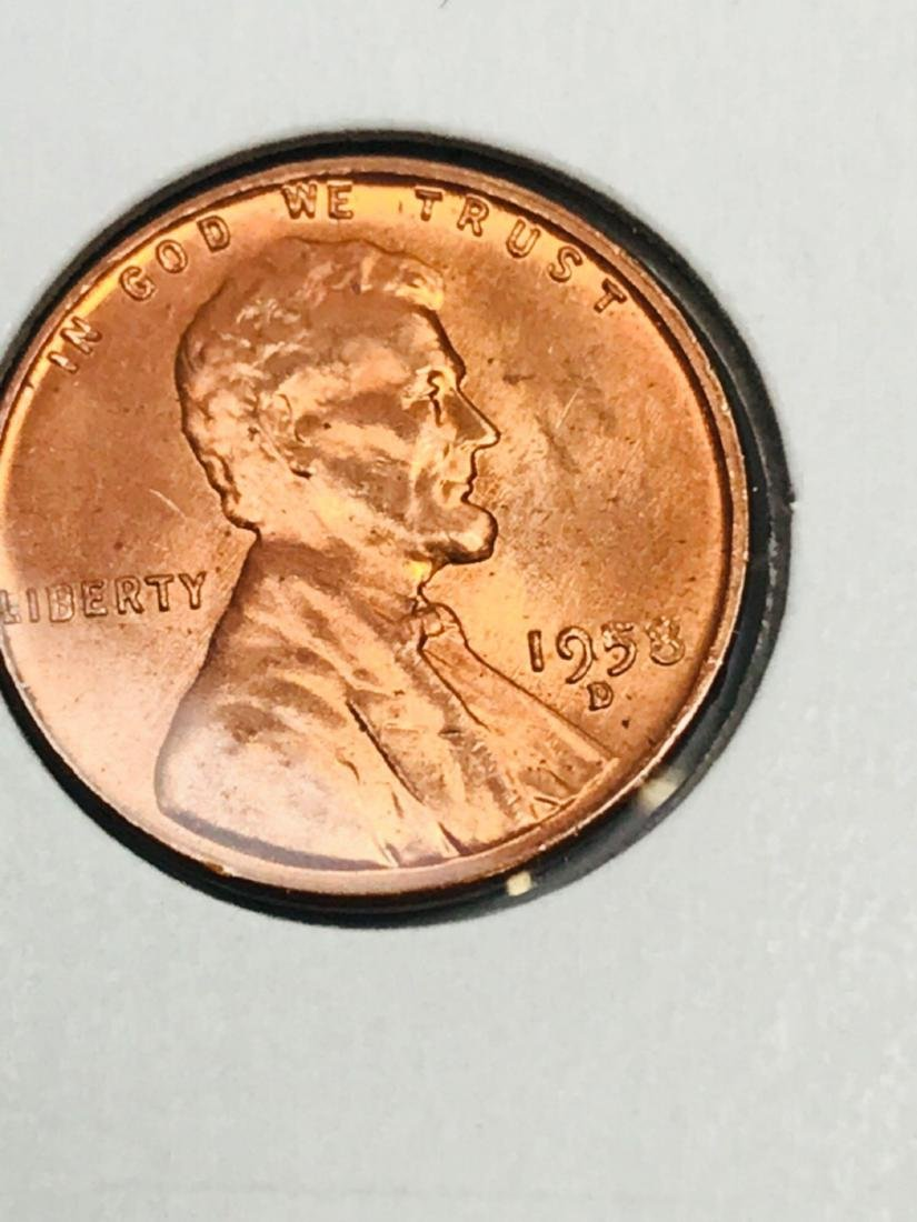 1958-D Brilliant Uncirculated Wheat Penny - 2