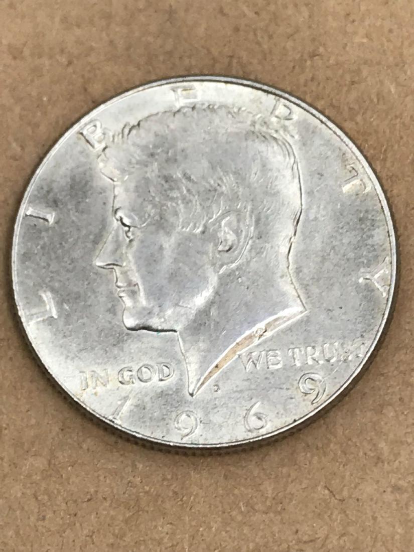 1969 D Kennedy Half Dollar 40% Silver - 2