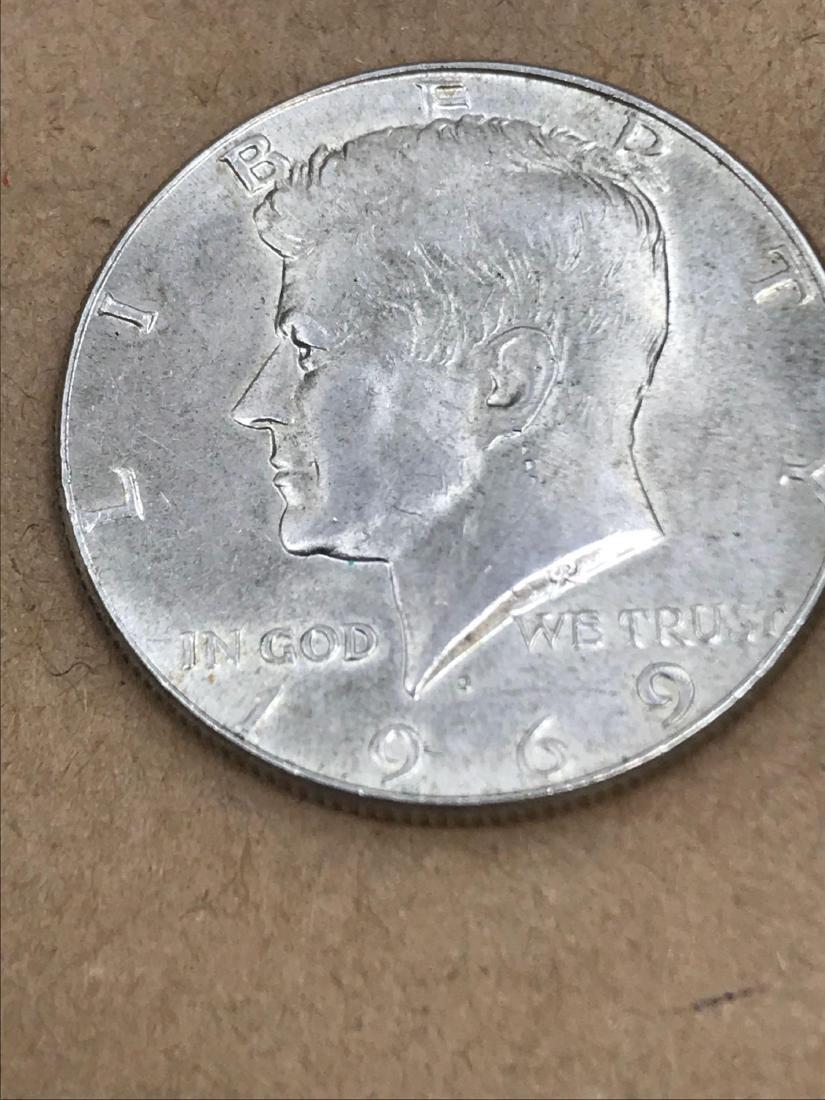 1969 D Kennedy Half Dollar 40% Silver - 7
